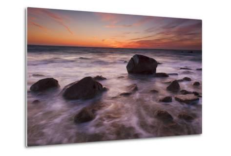 Rocks on Silky Water-Michael Blanchette-Metal Print