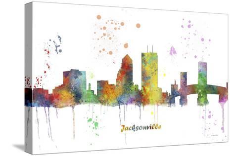 Jacksonville Florida Skyline MCLR 1-Marlene Watson-Stretched Canvas Print