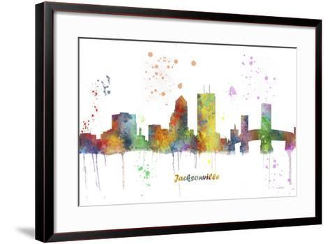 Jacksonville Florida Skyline MCLR 1-Marlene Watson-Framed Art Print