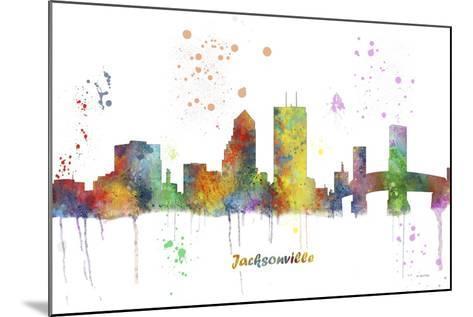 Jacksonville Florida Skyline MCLR 1-Marlene Watson-Mounted Giclee Print