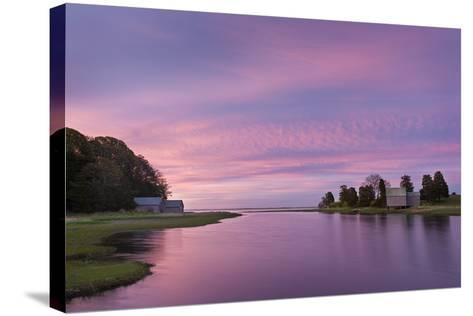 Morn at Salt Pond-Michael Blanchette-Stretched Canvas Print