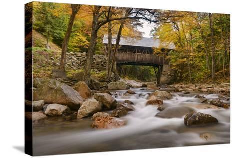 The Flume Bridge-Michael Blanchette-Stretched Canvas Print