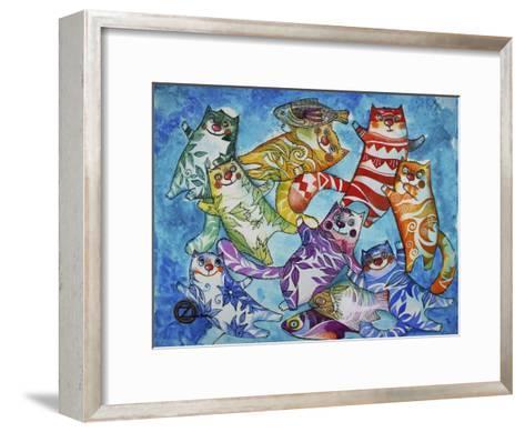 Cats and Fish-Oxana Zaika-Framed Art Print