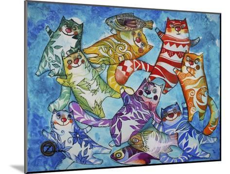 Cats and Fish-Oxana Zaika-Mounted Giclee Print