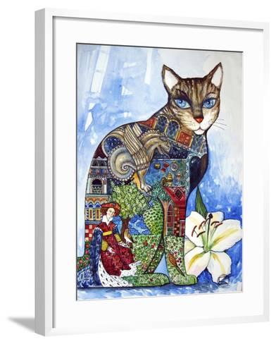 Cat-Oxana Zaika-Framed Art Print