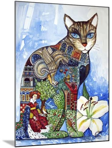 Cat-Oxana Zaika-Mounted Giclee Print