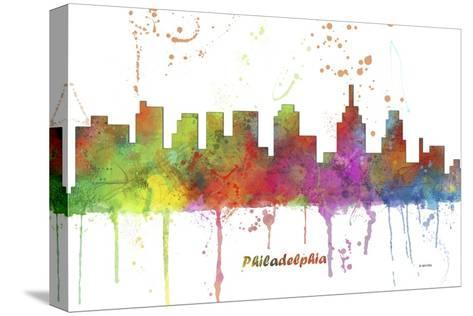 Philadelphia Pennsylvania Skyline MCLR 1-Marlene Watson-Stretched Canvas Print