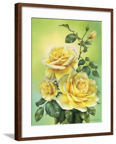 Roses Yellow-Olga And Alexey Drozdov-Framed Art Print