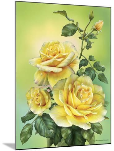 Roses Yellow-Olga And Alexey Drozdov-Mounted Giclee Print