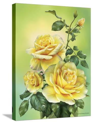 Roses Yellow-Olga And Alexey Drozdov-Stretched Canvas Print