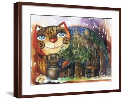Alpes Cat-Oxana Zaika-Framed Art Print