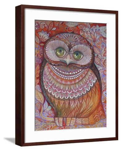 Gold Honew Owl-Oxana Zaika-Framed Art Print