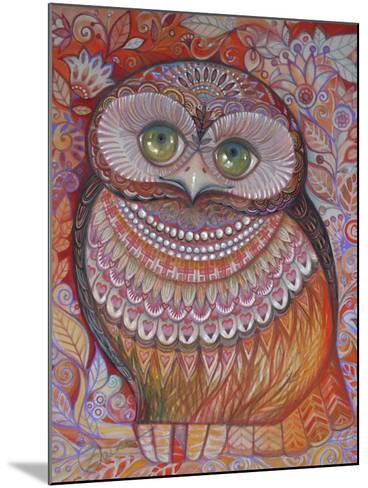 Gold Honew Owl-Oxana Zaika-Mounted Giclee Print