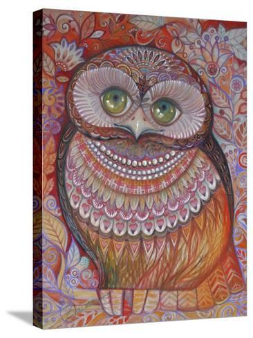 Gold Honew Owl-Oxana Zaika-Stretched Canvas Print
