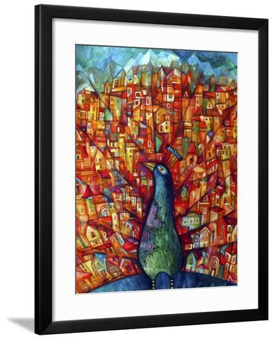 Peacock-Oxana Zaika-Framed Art Print