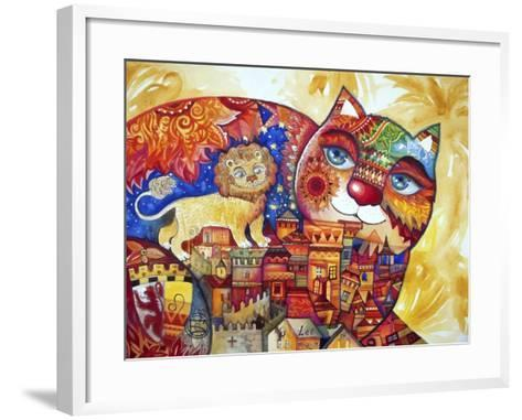 Leo Cat-Oxana Zaika-Framed Art Print