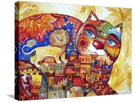 Leo Cat-Oxana Zaika-Stretched Canvas Print