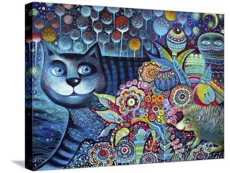 Indigo Cat-Oxana Zaika-Stretched Canvas Print