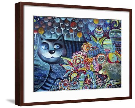 Indigo Cat-Oxana Zaika-Framed Art Print