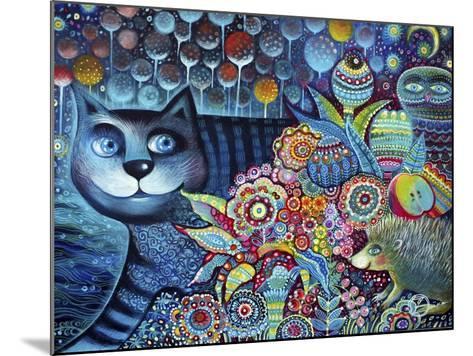 Indigo Cat-Oxana Zaika-Mounted Giclee Print