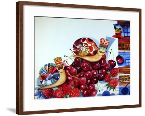 Hedgehogs-Oxana Zaika-Framed Art Print