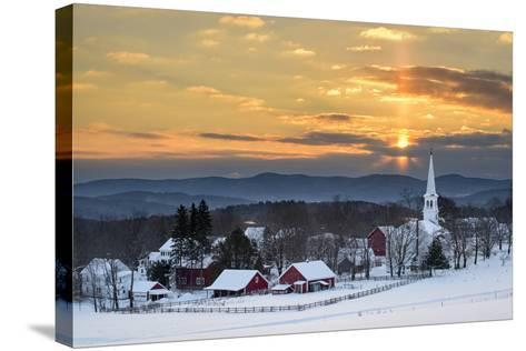 Peace over Peacham-Michael Blanchette-Stretched Canvas Print