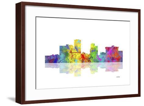 Little Rock Arkansas Skyline 1-Marlene Watson-Framed Art Print