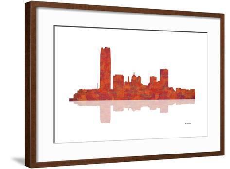 Oklahoma City Oklahoma Skyline 1-Marlene Watson-Framed Art Print