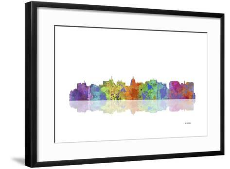 Madison Wisconsin Skyline 1-Marlene Watson-Framed Art Print