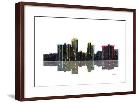 Little Rock Arkansas Skyline BW 1-Marlene Watson-Framed Art Print