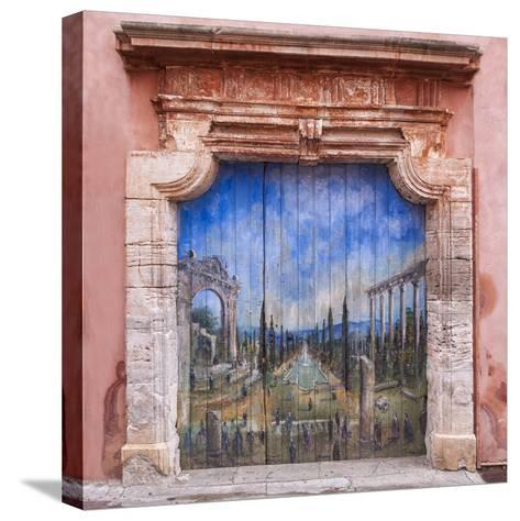 Old Painted Door-Michael Blanchette-Stretched Canvas Print
