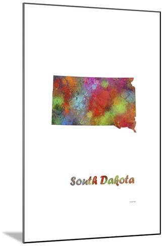 South Dakota State Map 1-Marlene Watson-Mounted Giclee Print