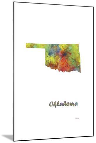 Oklahoma State Map 1-Marlene Watson-Mounted Giclee Print