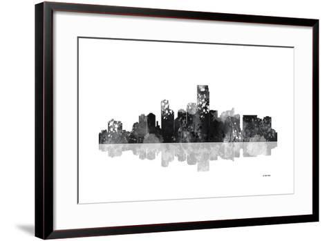 Jersey City New Jersey Skyline BG 1-Marlene Watson-Framed Art Print