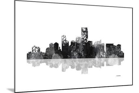 Jersey City New Jersey Skyline BG 1-Marlene Watson-Mounted Giclee Print