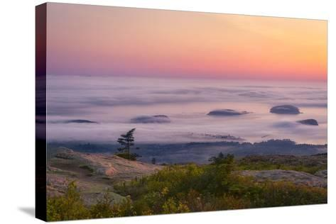 Islands in the Fog-Michael Blanchette-Stretched Canvas Print