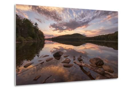 Kettle Pond Sunset-Michael Blanchette-Metal Print