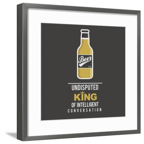 Beer 1.0- mip1980-Framed Art Print