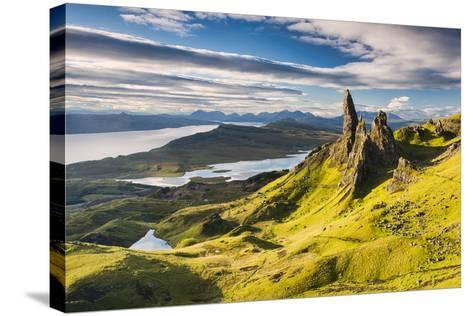 Light on the Storr-Michael Blanchette-Stretched Canvas Print