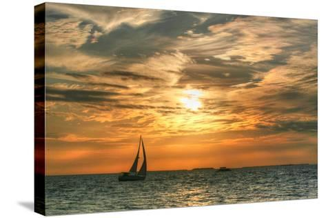 Key West Sunset II-Robert Goldwitz-Stretched Canvas Print