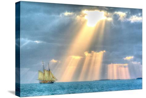 Key West Sunset XIII-Robert Goldwitz-Stretched Canvas Print