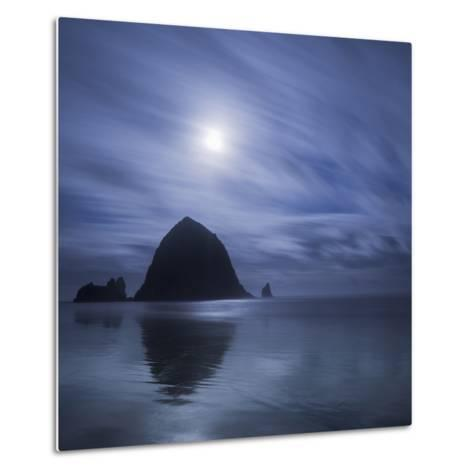 Moon over Canon Beach-Moises Levy-Metal Print