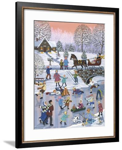 Twilight Skaters-Sheila Lee-Framed Art Print