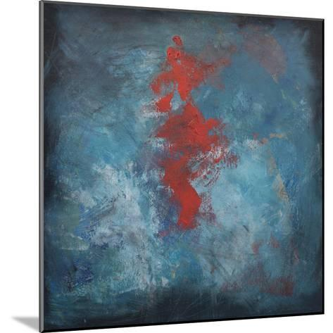 Dance Red on Blue-Tim Nyberg-Mounted Giclee Print