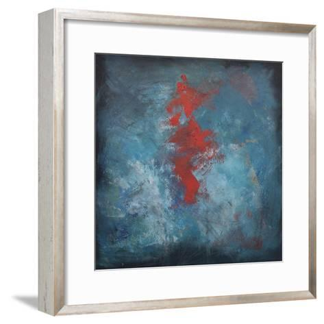 Dance Red on Blue-Tim Nyberg-Framed Art Print