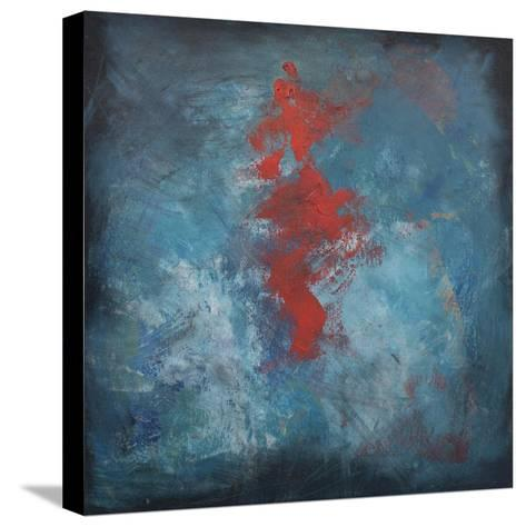 Dance Red on Blue-Tim Nyberg-Stretched Canvas Print