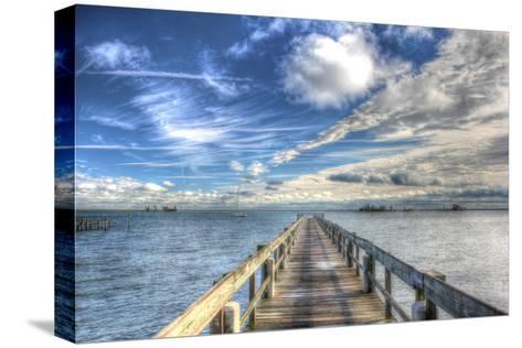Long Pier Sebastian Florida-Robert Goldwitz-Stretched Canvas Print