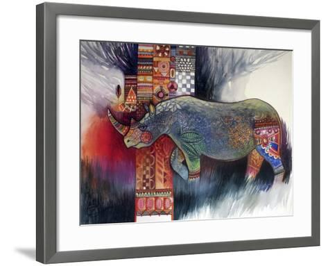 Rhino-Oxana Zaika-Framed Art Print