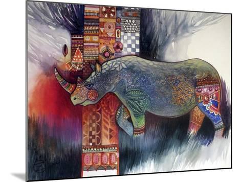 Rhino-Oxana Zaika-Mounted Giclee Print