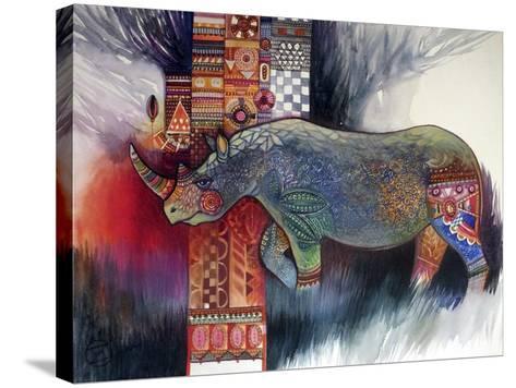 Rhino-Oxana Zaika-Stretched Canvas Print
